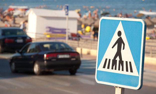 Señal de paso de peatones