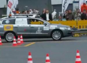 Demostración de un coche sin conductor.