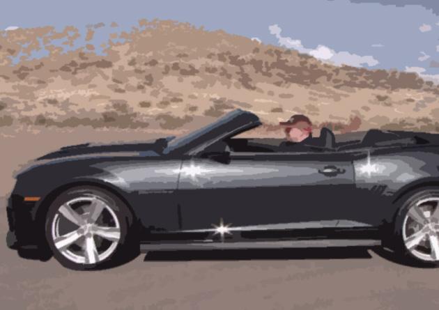 Descapotable Chevrolet Camaro.
