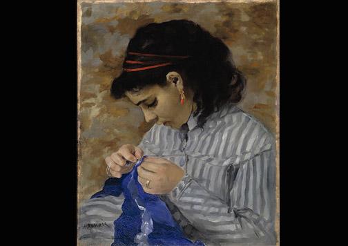 Lisa cosiendo