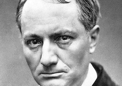Retrato Charles Baudelaire.