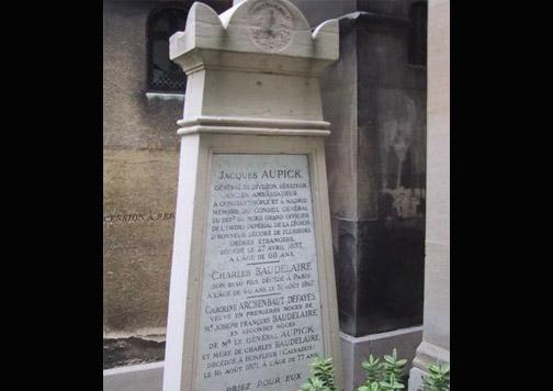 tumba donde está enterrado Baudelaire