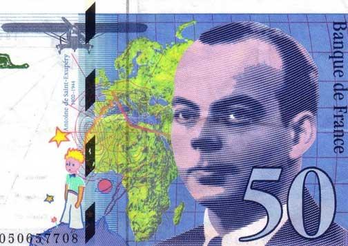 billete 50 francos El Principito.