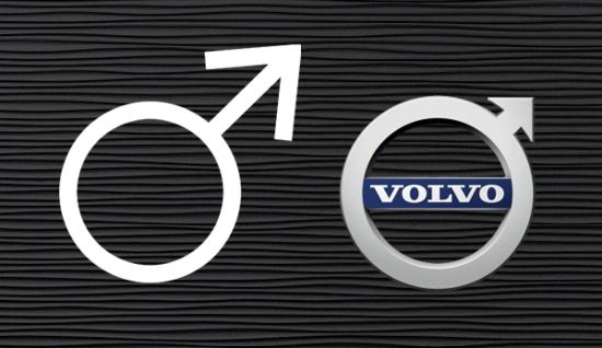 El símbolo del hierro y el logo de Volvo