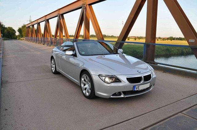 BMW descapotable plata