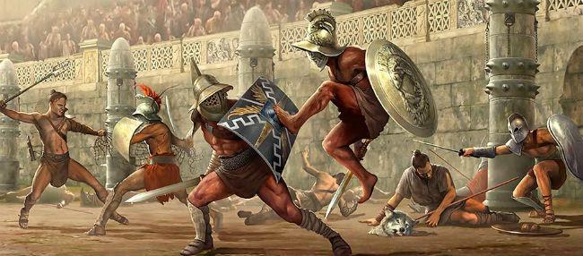Gladiadores pintura