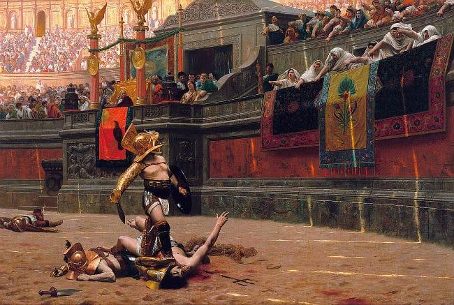 Pintura gladiador