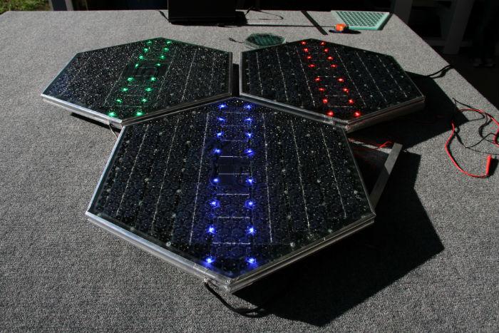 Estructura carretera solar Solar Roadways