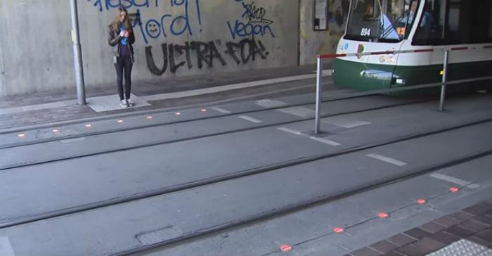 Semáforos para smombies en Alemania