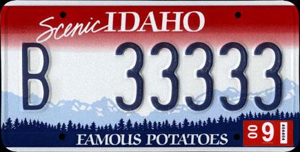 Matrícula de Idaho