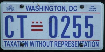 Matrícula Washington DC