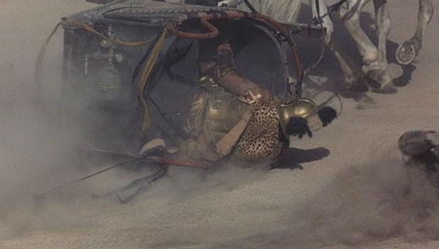 errores películas: bombona gas Gladiator