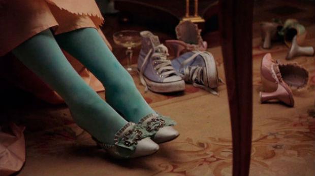 Maria Antonieta película: error escena zapatos